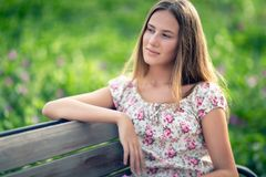 Nice female outdoors Royalty Free Stock Photos