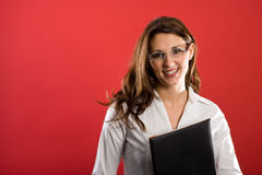 Nice female secretary Stock Photo