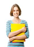 Nice female student Stock Images