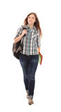 Nice female student smiling Royalty Free Stock Photos