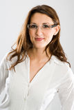 Nice female wearer of glasses Royalty Free Stock Photo