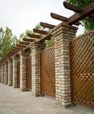Nice fence near the new apartments Royalty Free Stock Photos
