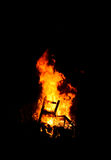 Nice fire at night Stock Photography
