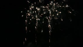 Nice fireworks show movie stock footage
