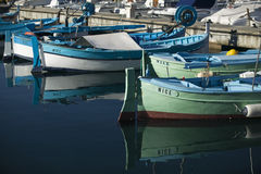 Nice fishing boats at harbor Royalty Free Stock Images