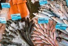 Nice - fiskmarknad Arkivbild