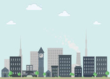Nice flat cityscape Royalty Free Stock Images