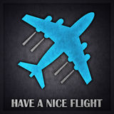 Nice Flight Concept Design Card. Created in Minimal Art Technique Royalty Free Stock Image