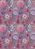 Nice floral pattern in beautiful flowers. Cute flourish design. Ditsy background with flowers. The elegant style for fashion prints Stock Photography