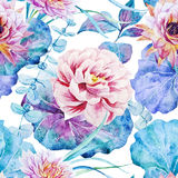 Nice floral watercolor seamless pattern Royalty Free Stock Photography