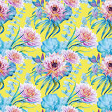 Nice floral watercolor seamless pattern Royalty Free Stock Image