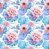 Nice floral watercolor seamless pattern Royalty Free Stock Photo