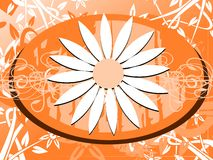 Nice flower on abstract background Stock Photos