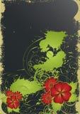 Nice flower grunge background Stock Photography
