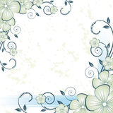 Nice flower grunge background Stock Images