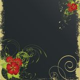 Nice flower grunge background Stock Images