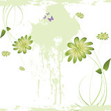Nice flower grunge background Royalty Free Stock Images