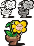 Nice flower. Illustrated nice flower in three versions as background vector illustration
