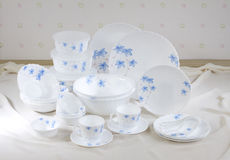 Nice flower pattern dish ware Stock Images