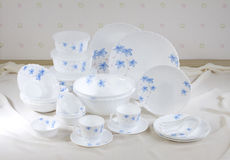 Nice flower pattern dish ware  Royalty Free Stock Photography
