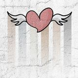 Nice fly heart. Creative design of Nice design of fly heart royalty free illustration