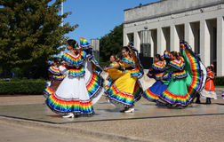 Nice folk dance Royalty Free Stock Photos