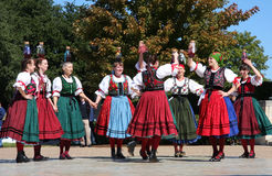 Nice folk dance Royalty Free Stock Photography