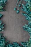 Nice frame of leaves of green glitter sparkles Stock Photo