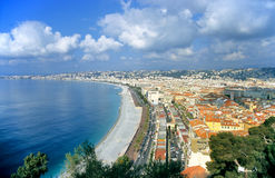 Nice, France. On the mediterranean coast is a vacation destination in the sun Royalty Free Stock Image
