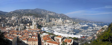 Nice, France. Panoramic view of Nice Harbor, France Royalty Free Stock Photos