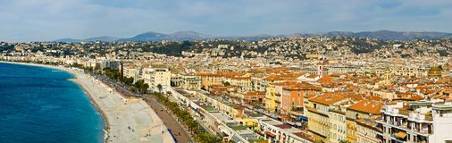Nice, France. Waterfront in the city of Nice, France Royalty Free Stock Photography