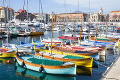 Free Nice, France, 25th Of February 2020: Boats In The Port Of Nice In Southeastern France Stock Image - 182405741