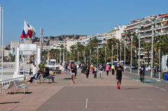 Nice, France - april 19 2016 : Promenade des Anglais Stock Image