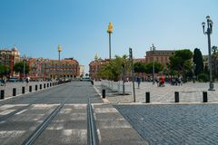 Central Square, Place Massena in Nice, Cote d'Azur, French Rivie royalty free stock images