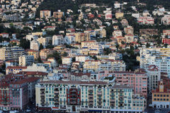 Nice, France. Nice buildings, landscape in evening Stock Photography
