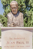 Nice, France. Bust of Pope John Paul II Stock Image