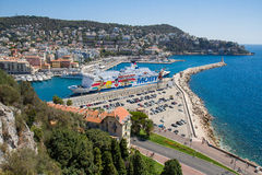 Nice, France. Coast of the Ligurian sea, Nice, France Stock Images