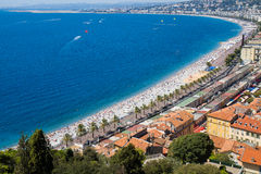 Nice, France. Coast of the Ligurian sea, Nice, France Royalty Free Stock Images