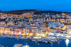 Nice, France at dusk Stock Photo