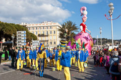 NICE, FRANCE - FEBRUARY 26: Carnival of Nice in French Riviera. This is the main winter event of the Riviera. Stock Image