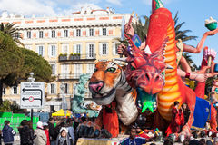 NICE, FRANCE - FEBRUARY 26: Carnival of Nice in French Riviera. Stock Image