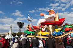 NICE, FRANCE - FEBRUARY 26: Carnival of Nice in French Riviera. Stock Photography