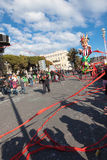 NICE, FRANCE - FEBRUARY 26: Carnival of Nice in French Riviera. Royalty Free Stock Images