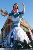 Nice Carnival - February 22, 2015 : Carnival of Nice in French Riviera. The theme for 2015 is King of Music. Royalty Free Stock Image
