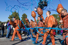 Nice Carnival -February 22, 2015 : Carnival of Nice in French Riviera. The theme for 2015 is King of Music. Royalty Free Stock Images