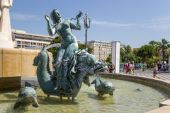 Nice, France. Fountain The Sun   Royalty Free Stock Image