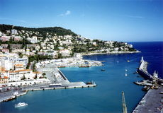 Nice (France) harbour. Nice (France - french riviera) harbour view Stock Image