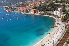 Nice, France. High angle view of beach. Nice, France Stock Image