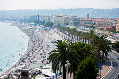 NICE, FRANCE - 5 JULY 2016: City of Nice during the summer, land Stock Photos