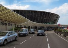 Nice - Cote dAzur Airport. Nice, France - July 14, 2018: Terminal building at Nice Cote d`Azur Airport. It is the third busiest airport in France stock photo